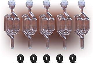 5 x Airlock S-Blasen-Typ mit gratis Tüllen