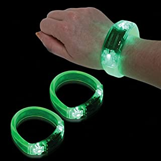 Mammoth Sales 12 PC LED Light up Sound Activated Bangle Bracelets Wristbands - Various Colors by