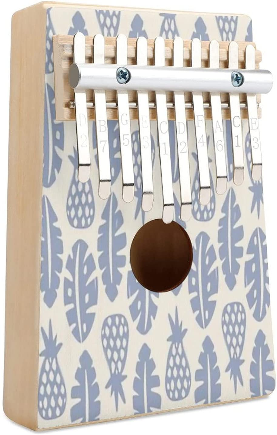 Brand new Rainforest Cream Periwinkle Blue Kalimba Piano Thumb Key 70% OFF Outlet 10 Fing