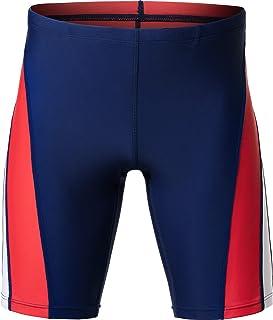 TSLA Boy's Swim Jammer, Youth Racing Competitive Swimming Shorts Trunks, UPF 50+ Sun Protection Endurance Training Swimsuit