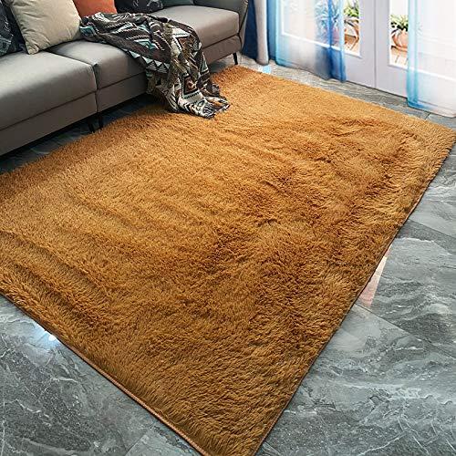 marca blanca Alfombra de felpa para sala de estar, alfombra de área suave, alfombrilla de yoga antideslizante, sofá de dormitorio, manta de terciopelo esponjosa de 120 x 180 cm
