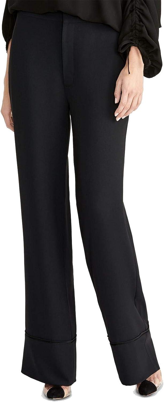 Rachel Roy Womens Black Boot Cut Wear to Work Pants Size 8