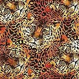 DIE NÄHZWERGE Baumwollstoff Tigerkopf, Animal Print