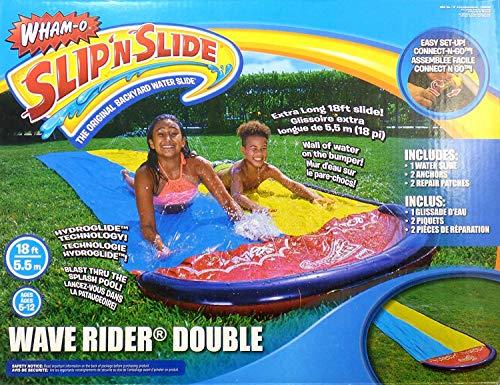Wham-O Slip'nSlide Wave Rider Double Backyard Water Slide 18 Ft