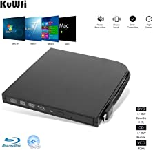 KuWFi Graveur Blu-Ray Externe USB 3.0 Type-C Double Interfaces Portable Slim Auto..