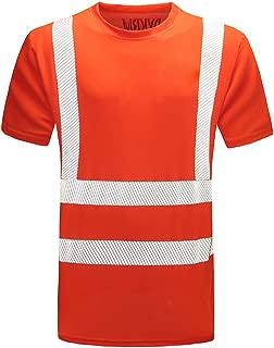 AYKRM Hi Viz VIS High Visibility t Shirt Reflective Tape Safety Security Work T-Shirt Workwear