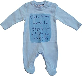Get Wivvit Boys Baby Funny Cute Cheeky Sleepsuit Romper Prem Sizes from Tiny Newborn to 18 Months Blue