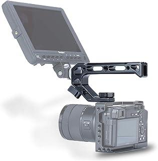 Empuñadura superior de la cámara para Sony A6400 Jaula de metal Universal Arri Pointing Hole Jaula de la cámara 4 Montaje en zapata fría Micrófono 15MM Tube Hole