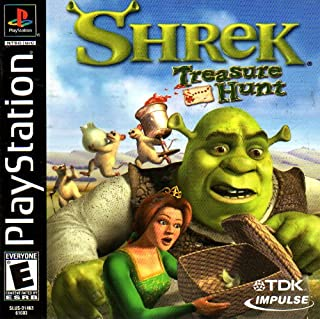 Shrek - Treasure Hunt PS1 Instruction Booklet (Sony Playstation Manual ONLY - NO GAME) Pamphlet - NO GAME INCLUDED