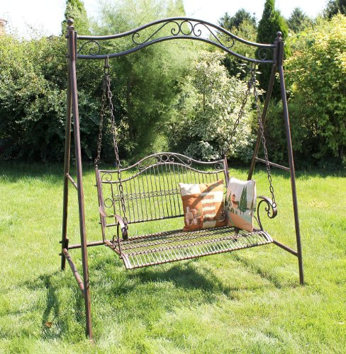 DanDiBo Hollywoodschaukel Metall Antik 2 Sitzer Gartenschaukel 082505 Schaukel Garten Schmiedeeisen - 5
