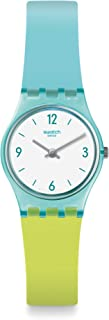 Swatch Womens Analogue Quartz Watch with Silicone Strap LL122