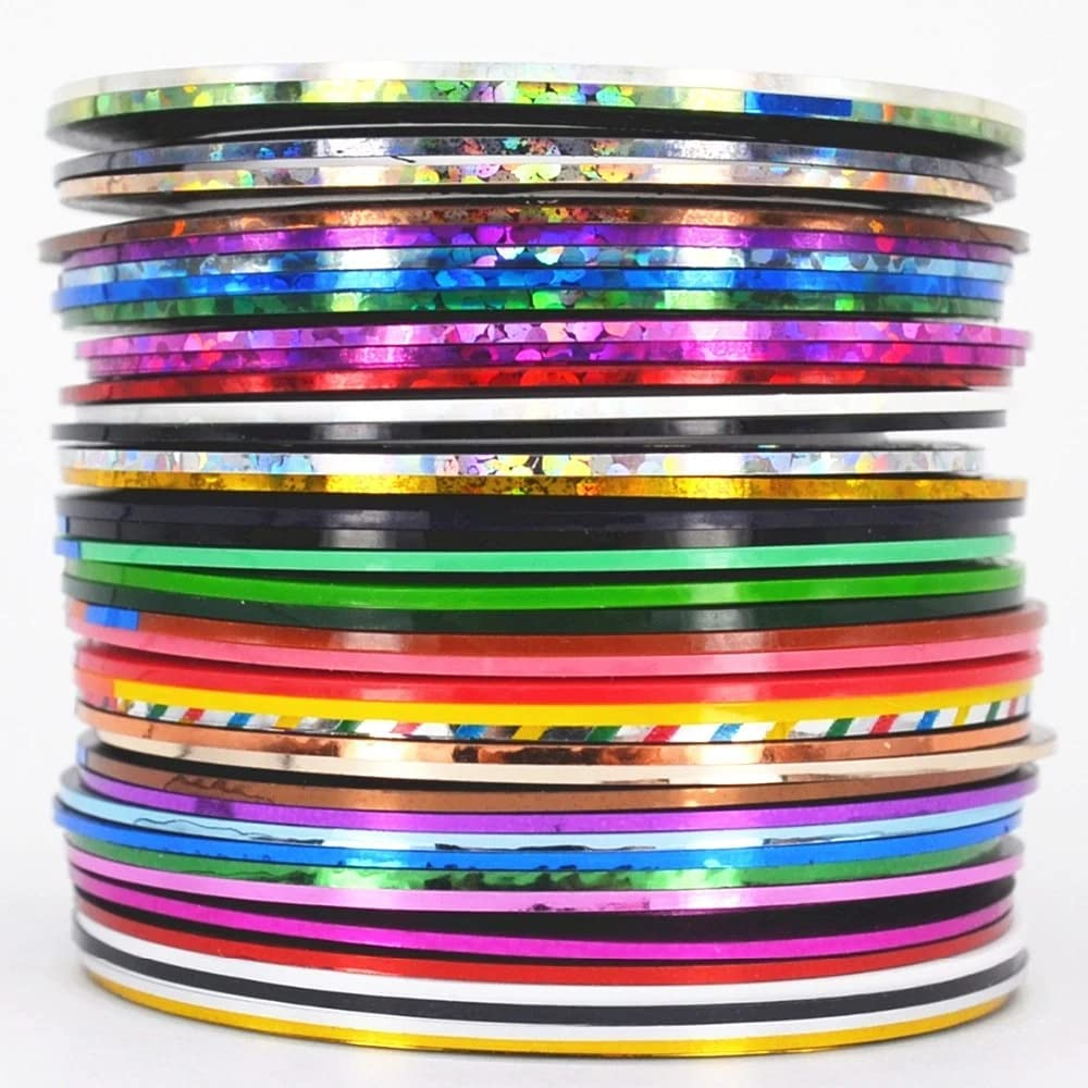 38 Rolls Mix Color Metallic Nail Width 5 ☆ very popular Tape Courier shipping free shipping Striping Lines Art 0
