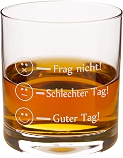 Whiskyglas - Smiley - edles und persönliches Whiskygeschenk von Leonardo - originelles Glas für Whiskykenner - Tumbler für Whiskey-Liebhaber