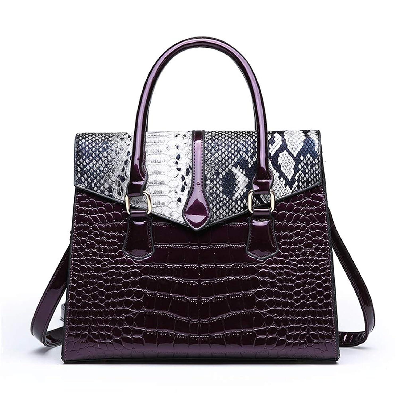 ハンドバッグ レディース ショルダーバッグ ハンドバッグ女性のショルダーバッグクロスボディバッグファッションエレガントトート用パーティーワークショッピング日 トートバッグ (色 : Purple)