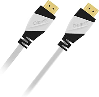 35 Ft HDMI Cable, GearIT Pro Series HDMI Cable 35 Feet High Speed Ethernet 4K Resolution 3D Video and ARC Audio Return Channel HDMI Cable, White