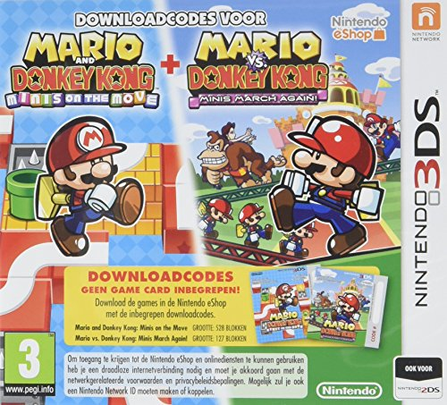 Mario & Donkey Kong (Mini's On The Move/Mini's March Again) (Code in a Box), 3DS (Nintendo 3DS)