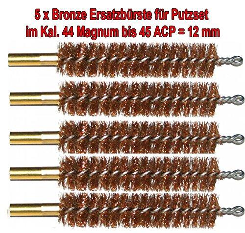 WS 5X Hochwertige Ersatz Bürsten aus Bronze mit hoher Qualität im Kal. 45 / 12mm