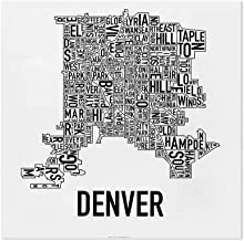 denver neighborhood map art