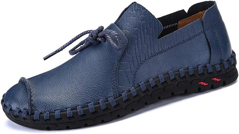 HhGold Männer Schuhe aus echtem Leder Business Business Business Casual Schuhe Elegante Hand nähen Bequeme büro männer Schuhe (Farbe   Blau, Größe   1146 EU) 73fbe1