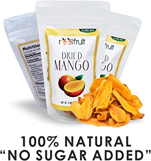 ReelFruit Dried Mango- GMO-Free, Unsweetened Dried Mango Slices. Vegan No Sugar Added Healthy Fruit Snacks. Dehydrated & Made In Nature (500g - 17.06oz)