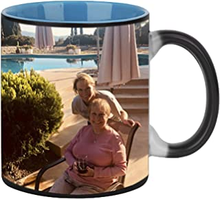 Magic Photo Ceramic Coffee Mugs, Personalized Custom DIY Print Image Photo Picture Cup Hot Heat Sensitive Color Changing Coffee Mug Milk Water Tea Cup Thanksgiving Christmas Birthday Keepsake Gift