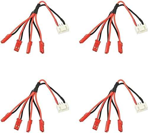 4 x Quantity of Walkera courirner 250 (R) Advanced GPS Quadcopter Drone 3S Li-Po   Plug JST-XH to 4x Male JST LED Power Distribution Lead Wire - FAST Libre SHIPPING FROM Orlando, Florida USA
