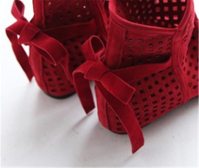 Bon Soir Women's Cave net Mid Heel Platform Wedges Sandals