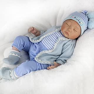 CHAREX Reborn Baby Doll Sleeping Soft Vinyl Newborn Doll Boy, Lifelike Realistic 22 inch Weighted Gift Set for Age 3+