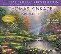 Thomas Kinkade Special Collector's Edition with Scripture 2021 Deluxe Wall Calen: Reflections