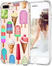 MOSNOVO iPhone 8 Plus Clear Case, iPhone 7 Plus Case, Ice Cream Clear Design Transparent Printed Plastic Back Case with TPU Bumper Case Cover for iPhone 7 Plus/iPhone 8 Plus