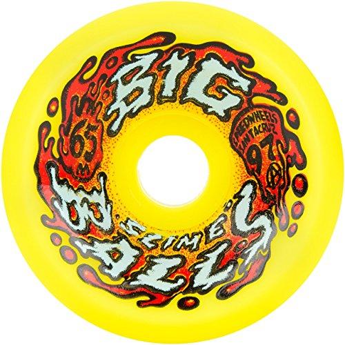 Santa Cruz Skate 97a SlimeBall Big Balls Wheels, Yellow, 65mm by Santa Cruz Skate