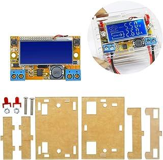 DiyStudio コンバーター DC-DC 調整可能なパワーバック5~23V-0~16.5V LCD画面 定電圧 降圧電圧 電源モジュール電圧電流LCD表示シェル アクリルシェルプロテクション (3Aモジュール 透明ハウジング付き)
