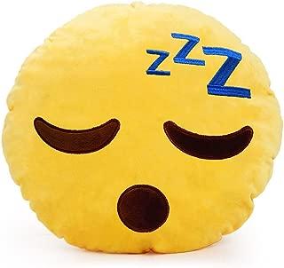 YINGGG Cute Sleeping Emoji Pillow Round Throw Pillow, 32x32x10CM