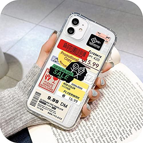Funda a prueba de golpes para iPhone 11 Fundas de silicona para iPhone 12 12 Pro Max Xr Se 2020 7 8 X Xs 6 6S Plus Mini Cubiertas-U043-Para 7 Plus 8 Plus
