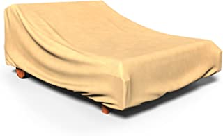 Budge P2A01SF1 All-Seasons Double Chaise Lounge Chair Cover, Tan