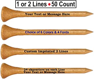 personalized wood golf tees
