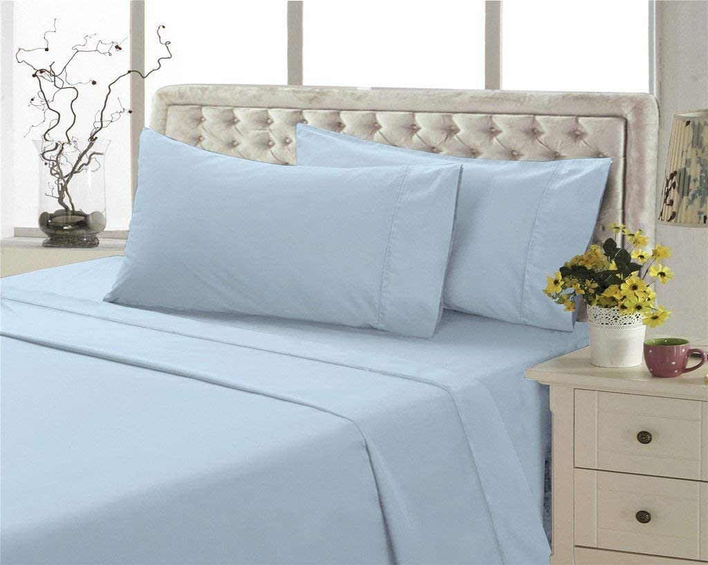 800 Thread Count-100% Cotton Bed Challenge the lowest price of Japan Light Cal-King New product type Shee Blue Sheets