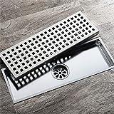 DNDN 33 Centimetri x 11cm in Acciaio Inox Lungo Rettangolare Wetroom Drenaggio di Sistema - Sistemi di drenaggio da Giardino