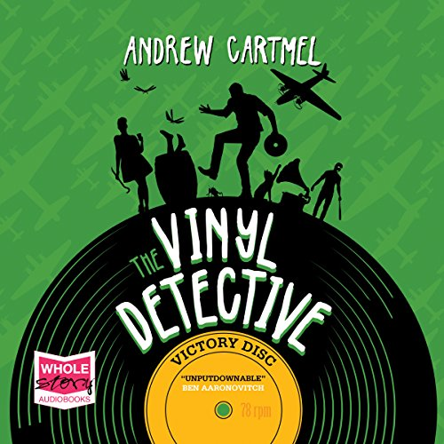 Victory Disc     The Vinyl Detective, Book 3              By:                                                                                                                                 Andrew Cartmel                               Narrated by:                                                                                                                                 Finlay Robertson                      Length: 11 hrs and 32 mins     24 ratings     Overall 4.5