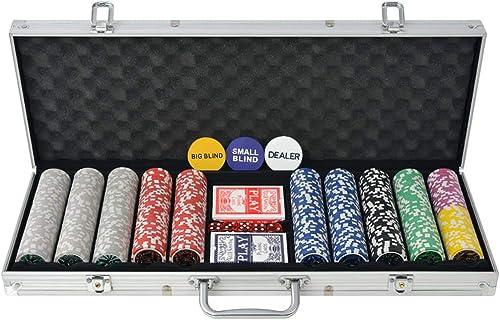60% de descuento Ghuanton Juego de Póker con con con 500 fichas láser maletín de aluminioJuegos y Juguetes Juegos Estuches y fichas de póquer  descuento de ventas en línea
