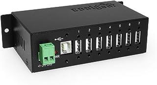 Coolgear Metal 7-Port USB 2.0 Hub w/ DIN RAIL Mounting Kit Japan NEC Chip
