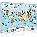 GOODS+GADGETS Panorama Weltkarte für Kinder XXL -