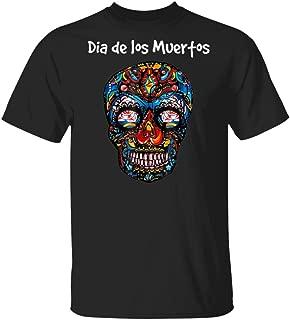 LeetGroupAU Day of The Dead Skull Skeleton T-Shirt