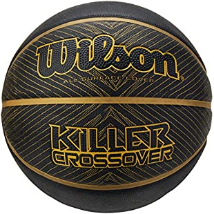 Wilson Basketball, Indoor and Outdoor, Rough Surfaces, Asphalt, Synthetic Floors, Size 7, 12 years and up, Killer Crossover, Black/Gold, WTB0977XB21:Eventmanager