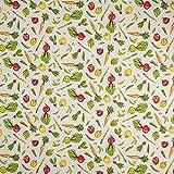 Fabulous Fabrics Halbpanama sand, Gemüse, 140cm breit