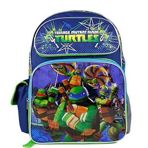 TMNT Teenage Mutant Ninja Turtles Boys 16' Large School Backpack Bag