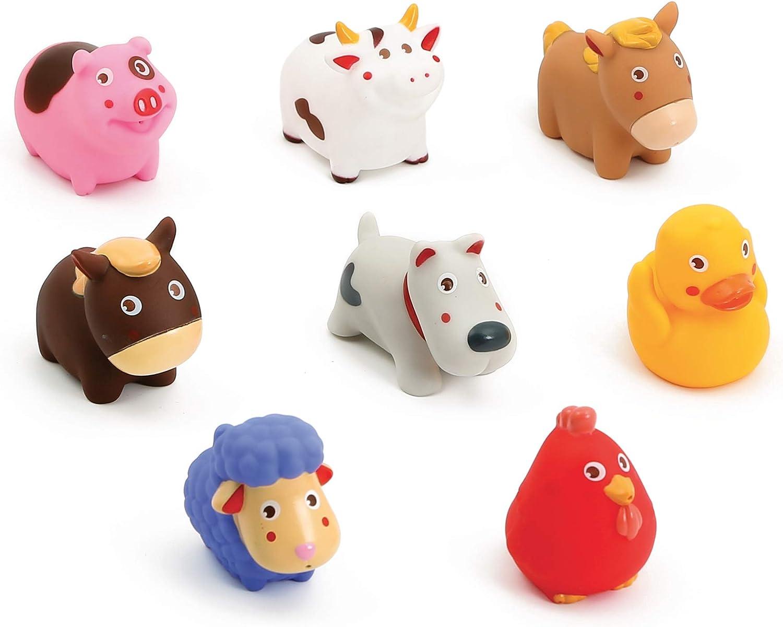 Ludi Animales de granja 8 figuras de plástico flexible 10 meses, multicolor, 1 unidad