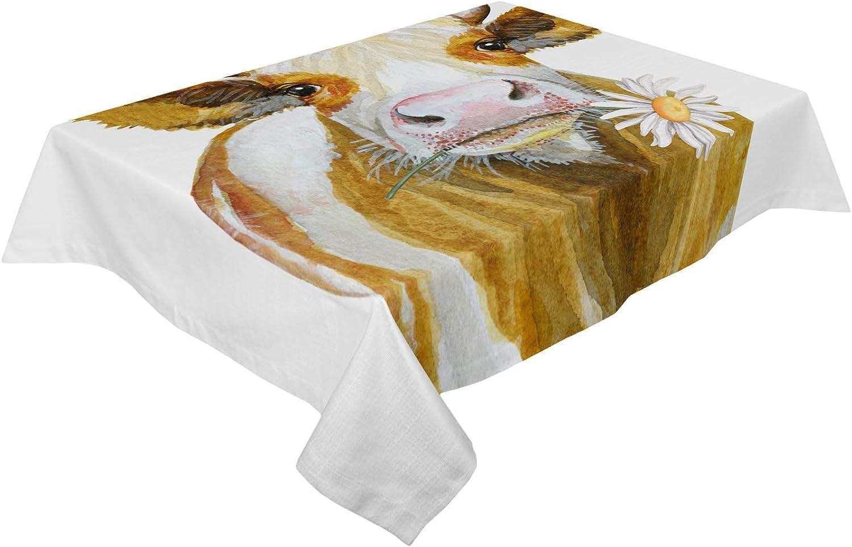 Savannan Burlap Kitchen Table Cloth quality assurance Washable 60