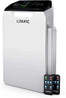 LEMARC USA air Purifier WA777 Ozone Free HEPA-13 Medical Grade Filter for Large Rooms. Removes air Particles, dust, Odors, Smoke, VOC, Pollen pet Dander, etc. (White)