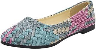 OHQ Zapatos Casuales De Primavera y Verano De Las Mujeres Zapatos Casuales Mujer Zapatos Femeninos Bastante Planos Azul Ro...